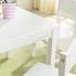 kindertafel met vier stoelen - Farmhouse - wit  (21455)