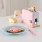 speelgoed broodrooster met speelset - pastel (63374)