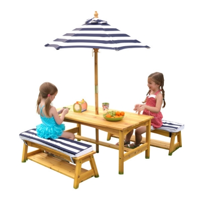 Picknicktafel-met-parasol-marineblauw-Kidkraft (00106)