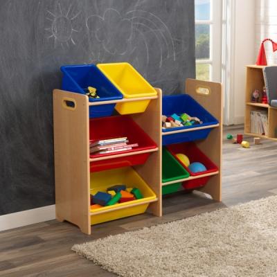 speelgoed opbergrek - 7 delig - primaire kleuren (15470)