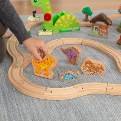 speelgoed treinbaan met speelset - Dinosaurus  (18016)