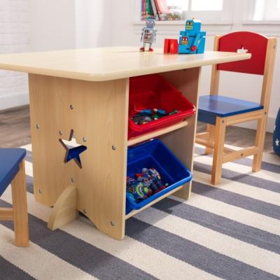 kindertafel met twee stoelen - Sterren  (26912)