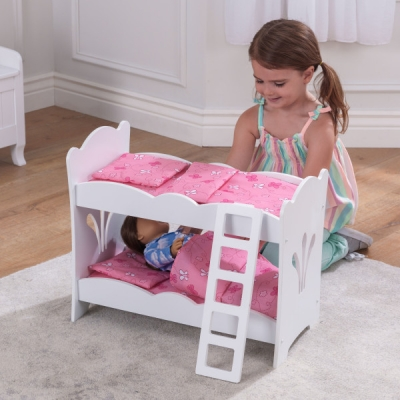 poppen stapelbed - Lil' Doll - wit (60130)