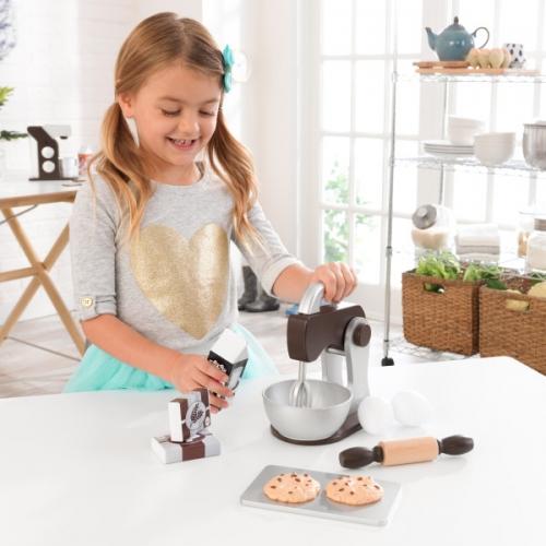 speelgoed keukenmixer met speelset - espresso - Kidkraft (63370)