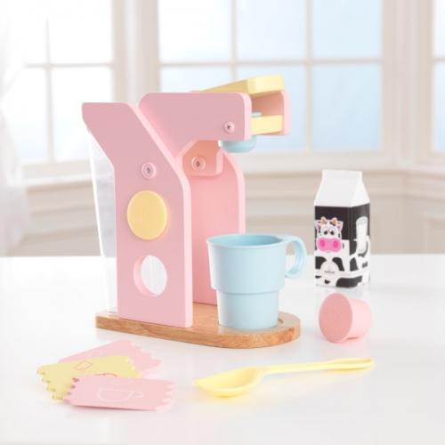 speelgoed koffieapparaat met speelset - kleur pastel (63380)