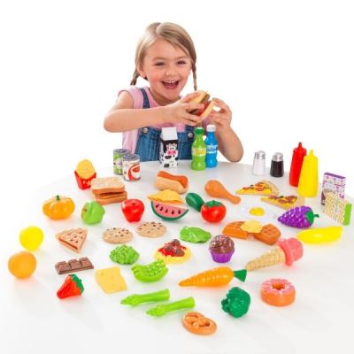 speelset met speelgoedeten - 65 delig - Kidkraft (63510)