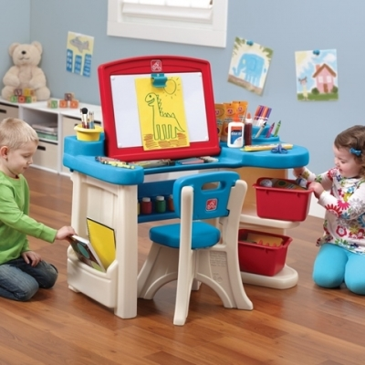 kinderbureau met opklapbaar tekenbord - The Studio Art Desk - Step2 (843100)